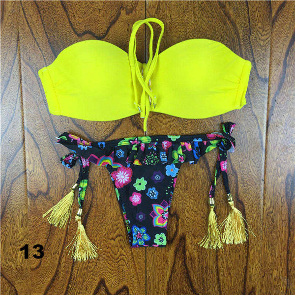 Irresistible Floral Lace Strapless Push Up Bikini Set- 23 Amazing Designs