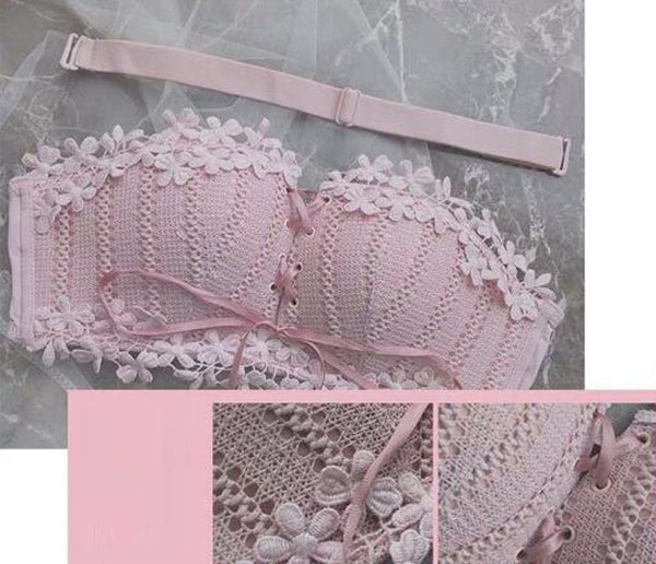 Sexy Floral Embroidery Bra