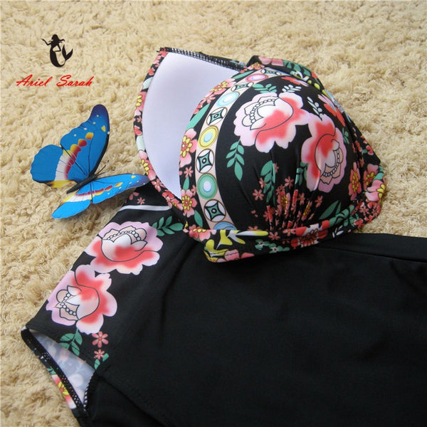 2019 Sexy Floral Print Push Up Bikinis