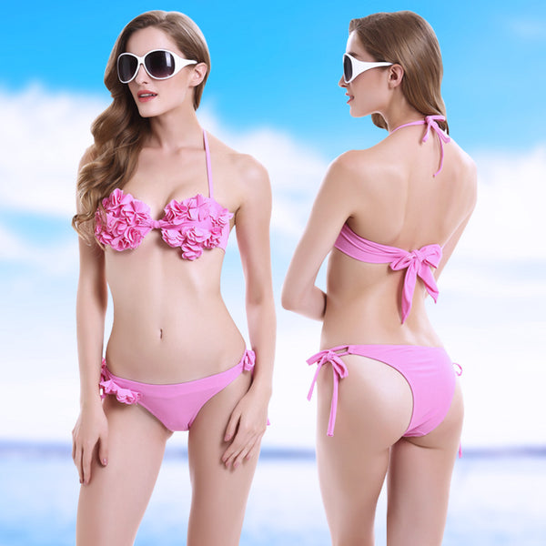 Super CUTE & SEXY Floral Push Up Bikini Set