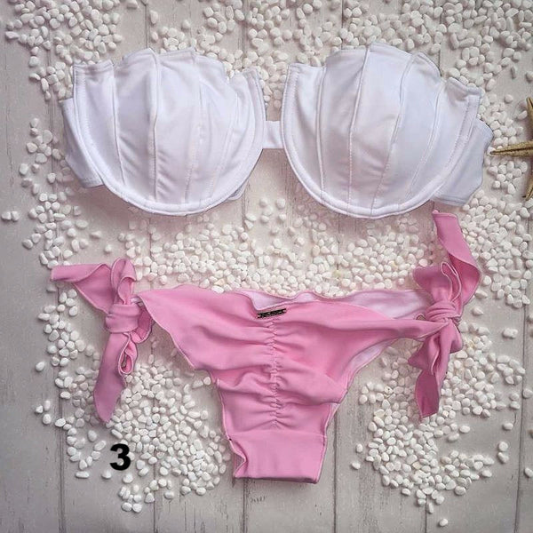 Amazing Padded Top Shell Design Bikini Set