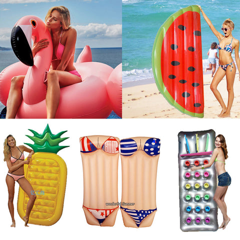Super COOL & Colorful Inflatable Pool Floats in 8 Styles