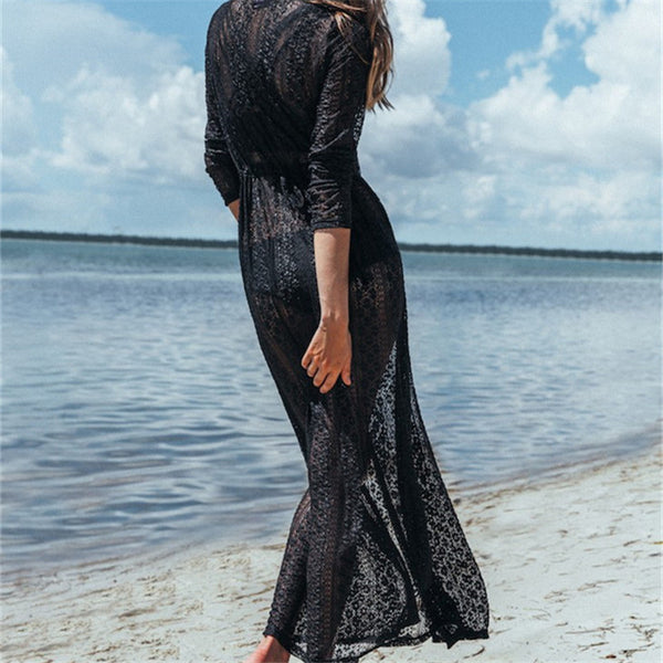 New Arrivals! Sexy Lace Pareo  Kaftan Beach Cover up