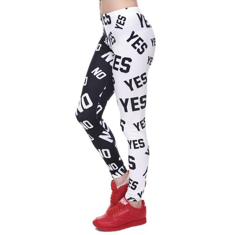 Elasticity Yes and No Printed Slim Fit Workout Leggings