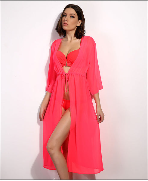 Sexy Chiffon Long Dress Swimsuit Beach Cover-Ups