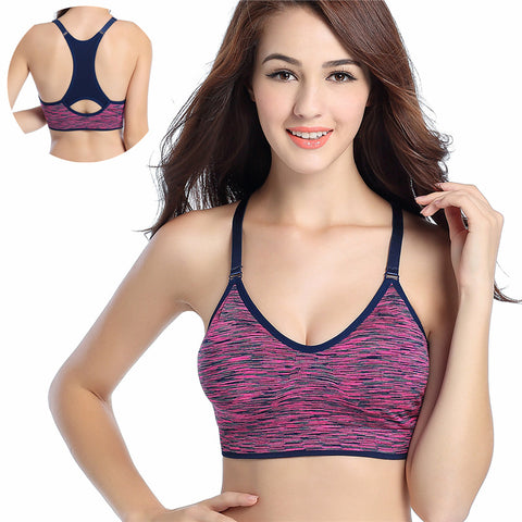 Adjustable Spaghetti Straps Fitness Padded Top Sports Bra