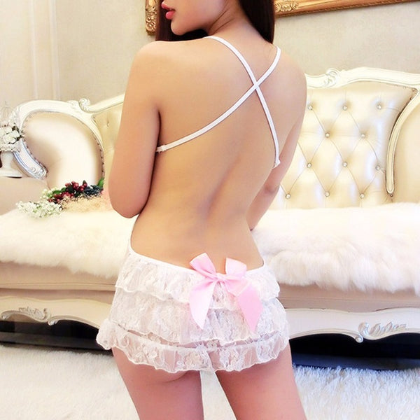 Hot Erotic Sexy  Lace Mini Dress Underwear Lingerie