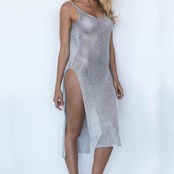 Sexy Mesh Summer Dress Tunic Robe Cover-Up