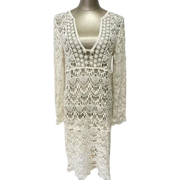 Sexy Crochet Dress Bathing Suit Cover Ups