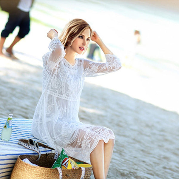 2018 New Arrival! Lace Tunic Sarong Bathing Suit Cover Ups