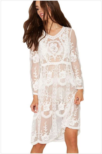2019 New Arrival! Lace Tunic Sarong Bathing Suit Cover Ups
