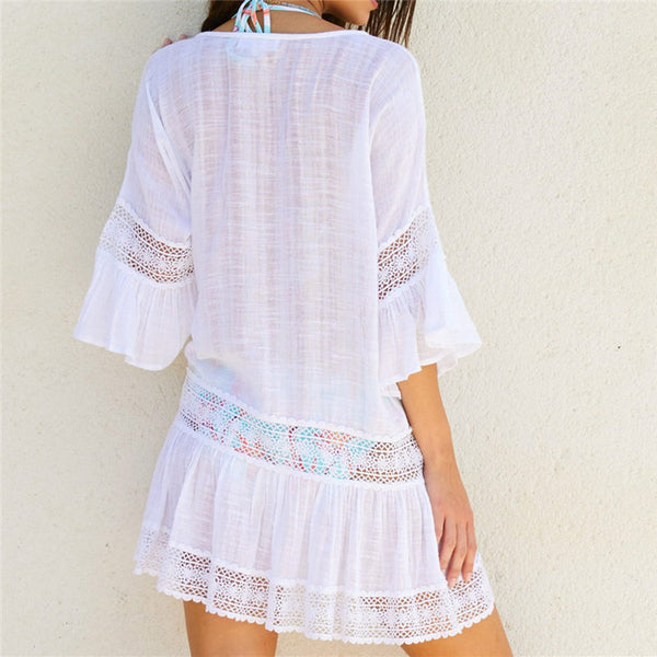 New Beach Cover Up Bamboo Cotton Summer  Beach Dress
