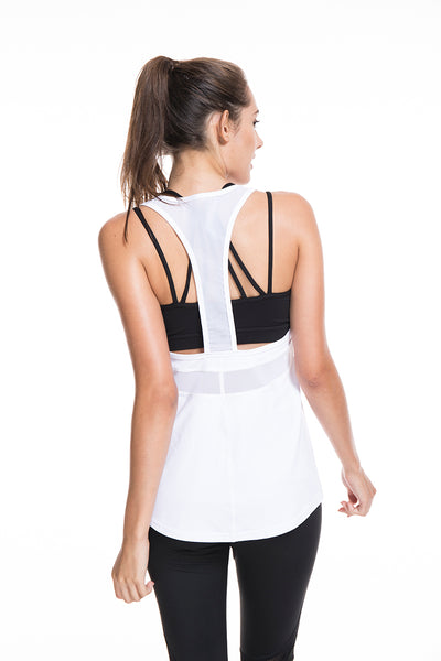 Fitness Tank Tops Mesh Breathable Loose Workout Vest