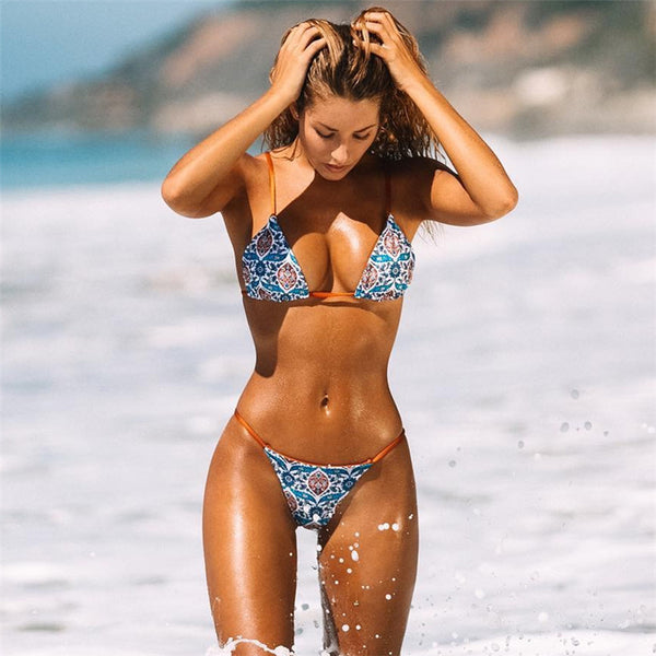 Sexy Hot Printed Floral Bikini Set Bathing Suit