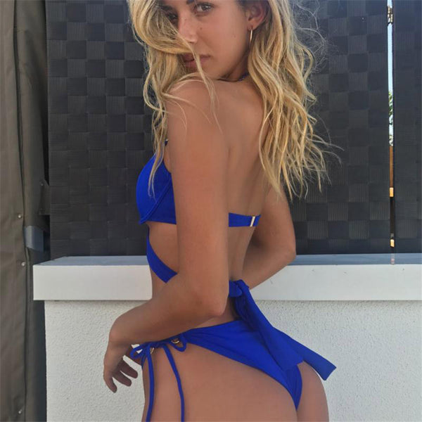 2018 New Hot Sexy  Hollow Out Brazilian Swimsuit
