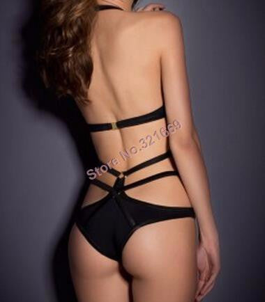 NEW Vintage Black Bandage One Piece Swimsuit