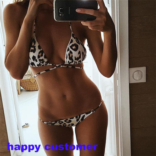 New Arrival! Super Hot Leopard Printed Low Waist Swimsuit