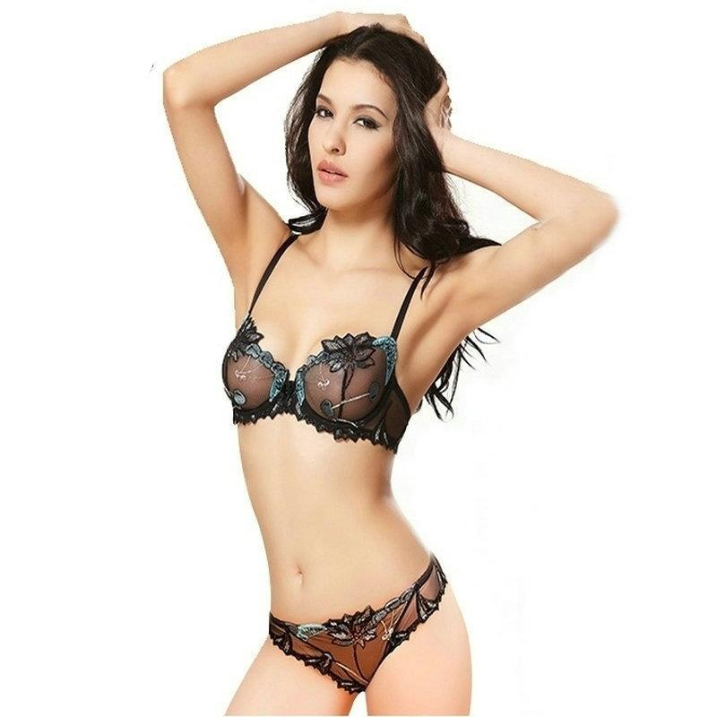 3d2b1901c43 Sexy Push Up Transparent Lace Embroidery Bra Sets – Accessories Madness