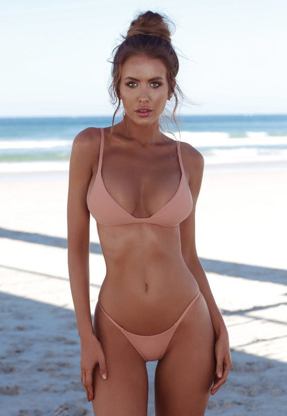 2019 Sexy Thong Backless Suits Halter Top Bikini Sets