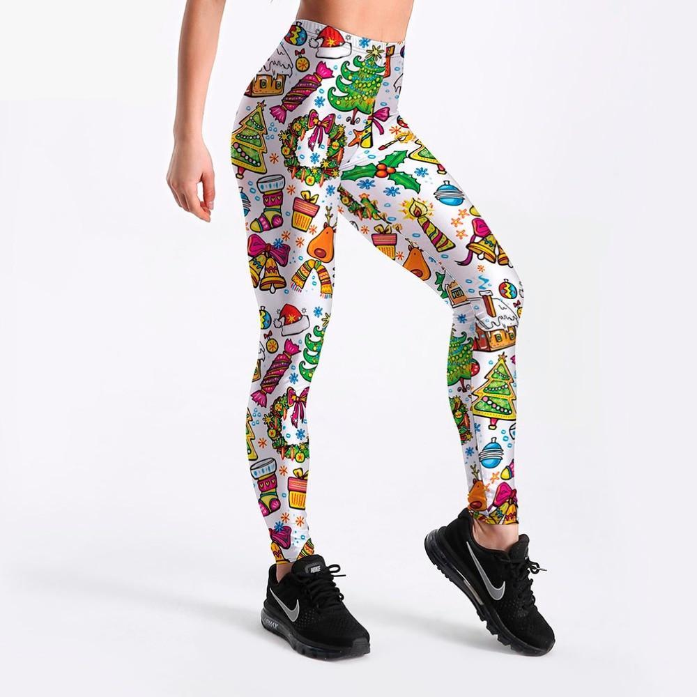 Christmas 3D Colorful Printed Leggings