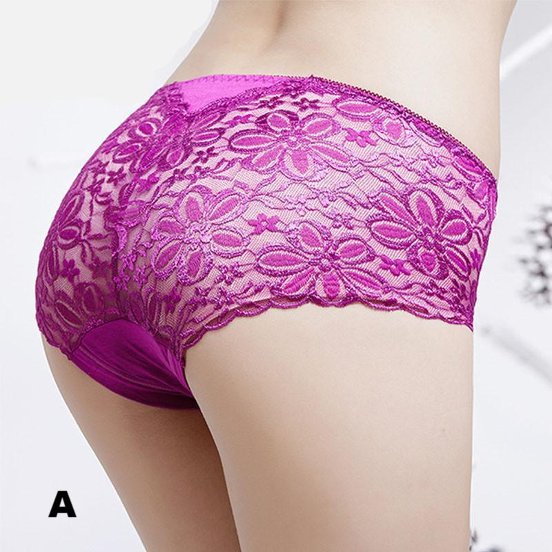 GIRLADY Sexy Lace Transparent Hipster Panty