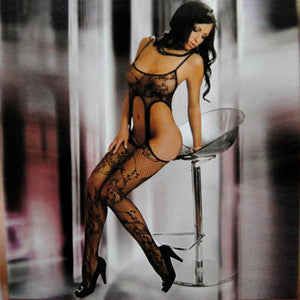 Erotic Sexy Lace Lingerie Stockings Mesh Bodysuit