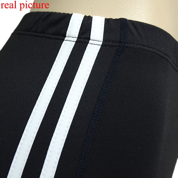 New Arrival! Striped Black Splice Long Leggings