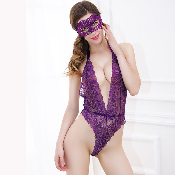 Hot & Sexy Lace Underwear Costumes + Erotic Mask