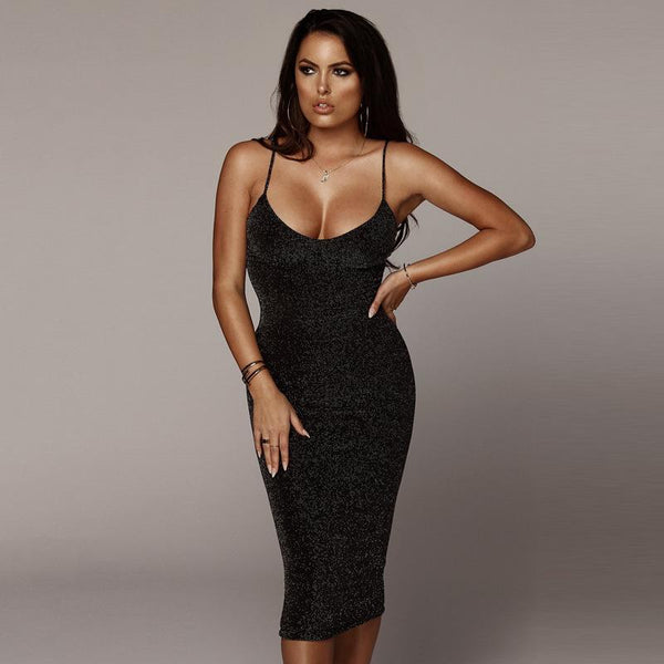 High Waist Backless Bodycon Dress