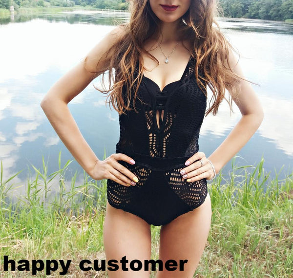 Sexy Lace Monokini Crochet One Piece Brazilian Swimsuit