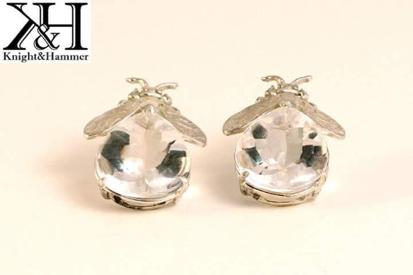 Bee Mine quartz gemstone earrings