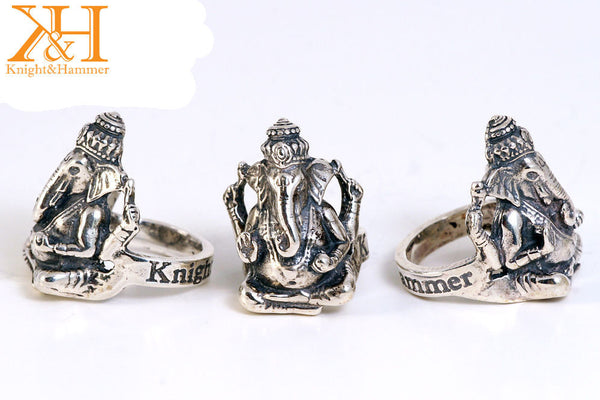 Trenta LIMITED EDITION Gilded over Bronze Ganesha ring