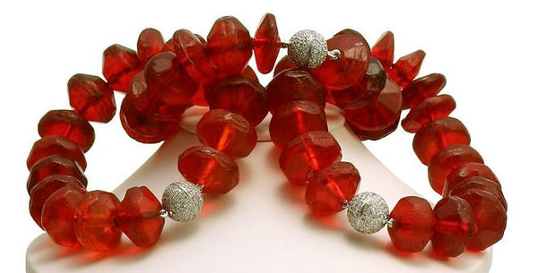 Le Mal Afrique Bohemian Glass Rubies & Diamonds necklace/bracelets
