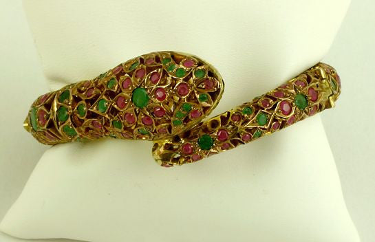 Victorian exquisite snake bangle bracelet circa 1875