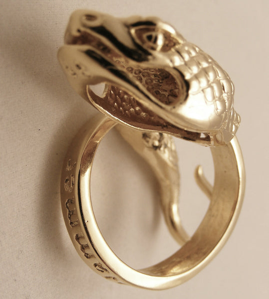 Knight&Hammer Trenta Serpent Ouroboros ring in Solid 18K Gold