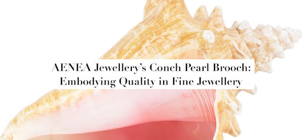 AENEA Jewellery's Conch Pearl Brooch: