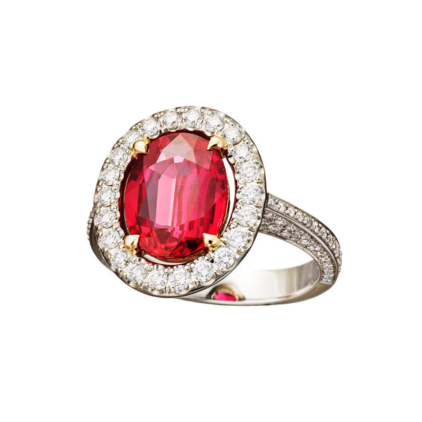 Ring 'Pigeon blood' Ruby