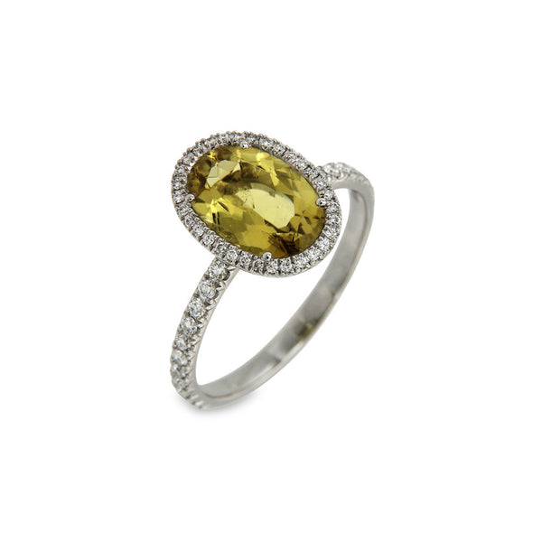 Ring Yellow Tourmaline Oval