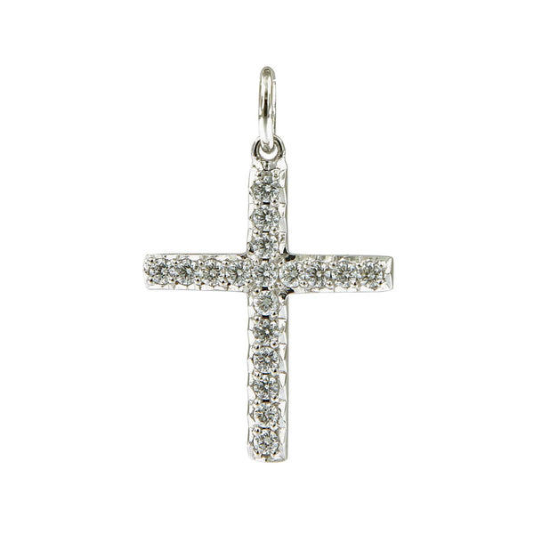 AENEA CHARM COLLECTION Pendant Cross White Gold with White Diamonds