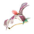 "Brooch ""Lilly"" Yellow Gold and Palladium with Diamonds and Rubies and a Conch Pearl"