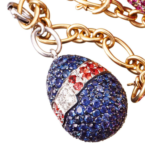 Pendant Sapphires and White Diamonds