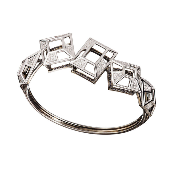 Bangle Filled White Diamonds