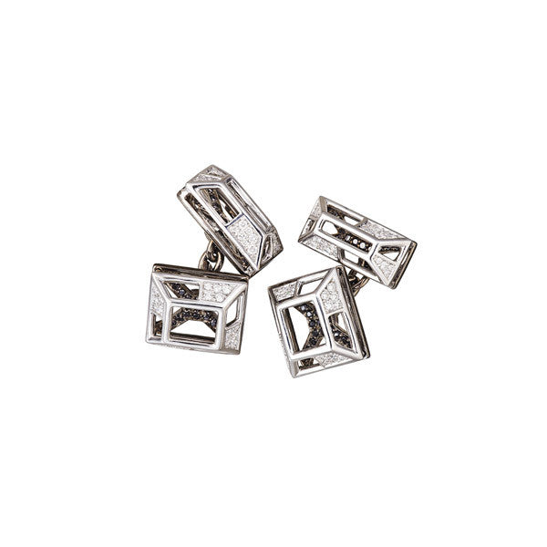 Cufflinks Diamonds Filled