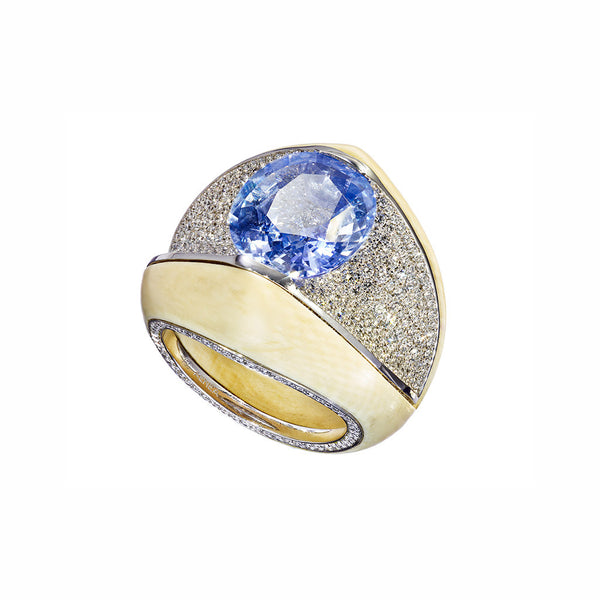 Ring Blue Sapphire 6,99 cts.