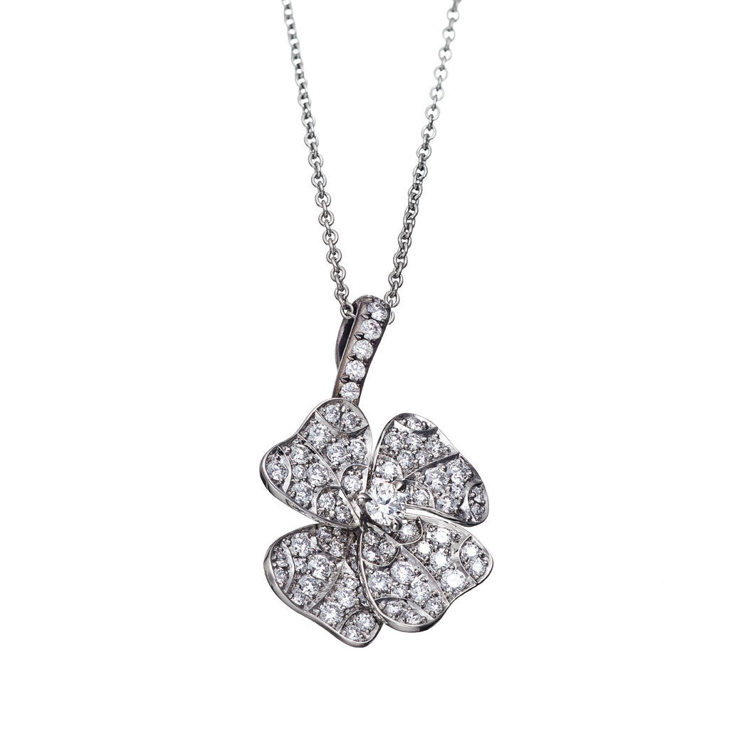 AENEA QUADRIFOGLIO Collection Pendant Platinum with White Diamonds