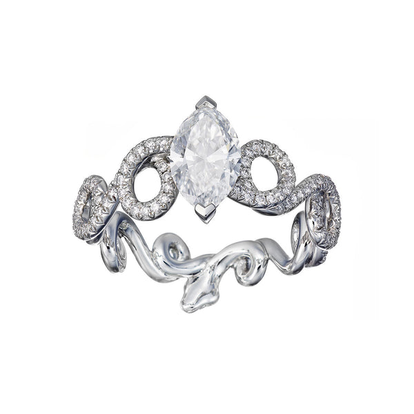 Ring Marquise Cut Diamond 1,02ct. (E/VS2)