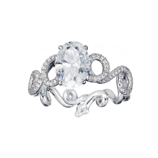 Ring Oval Diamond 2ct D/SI3