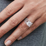 Ring Cushion Cut Diamond 5.06ct F/VS1