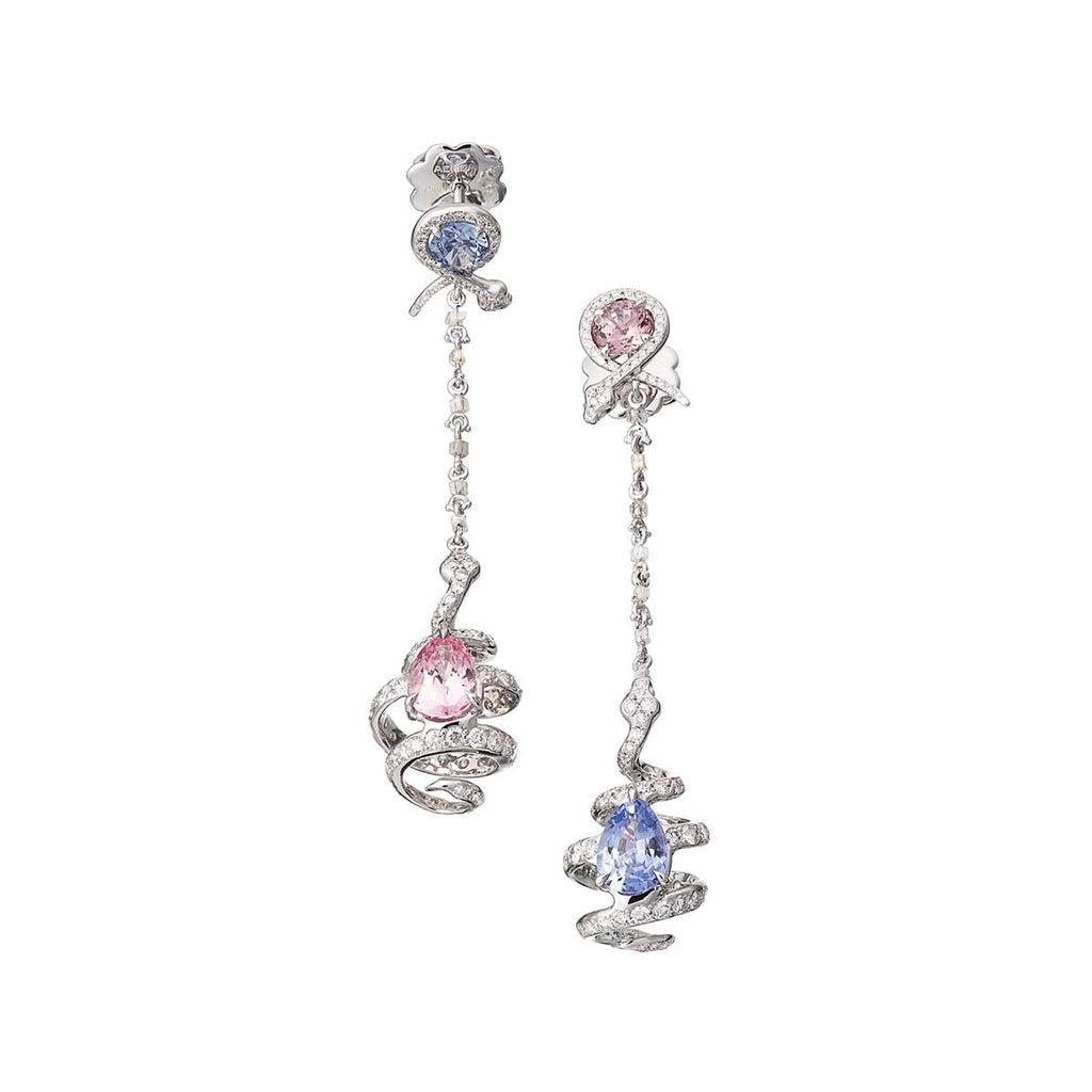Earrings Spinel and Diamonds