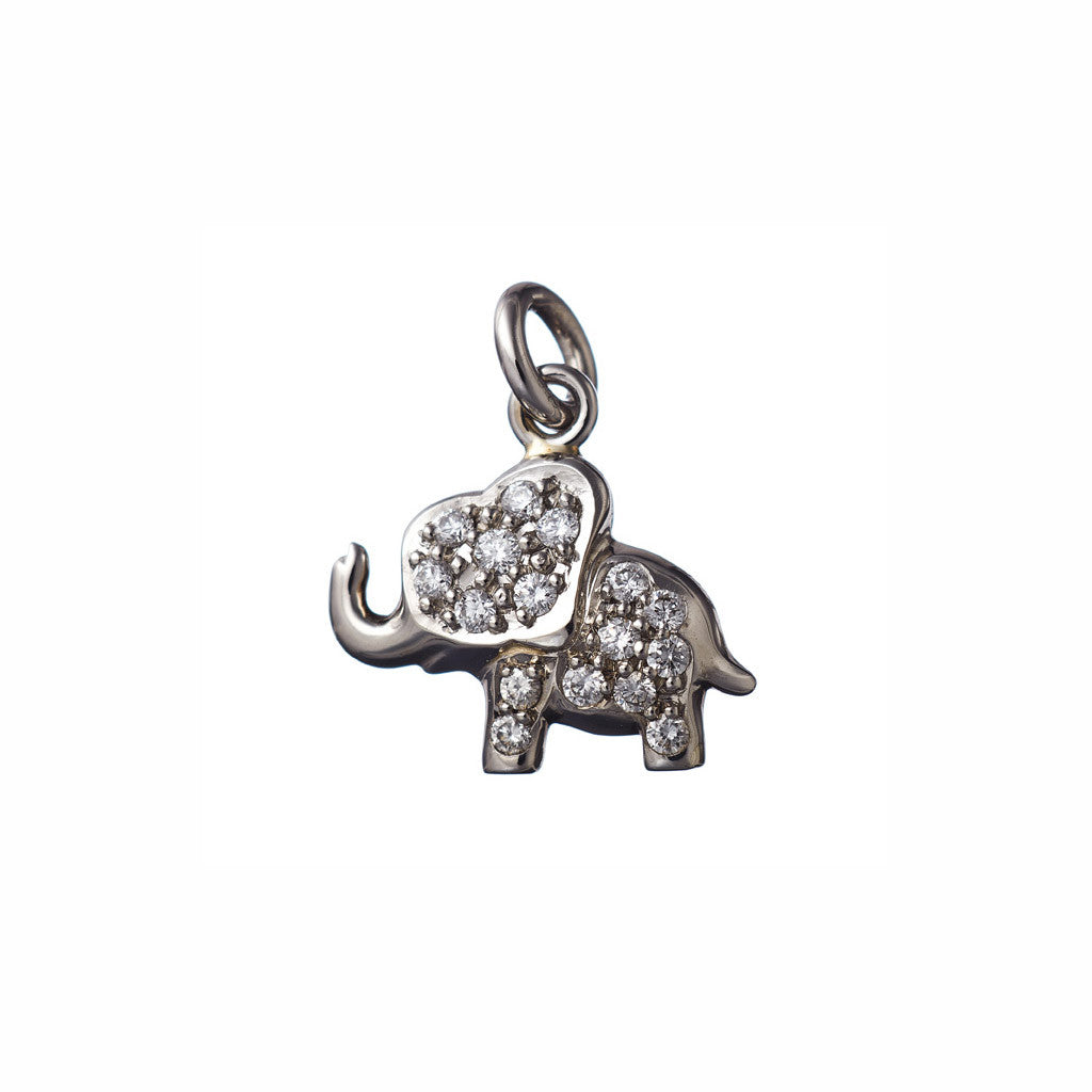 AENEA CHARM COLLECTION Pendant Elephant Platinum with White Diamonds